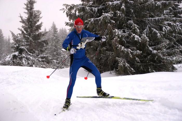 Andreas Holmerg vant H17 på Sjusjøen. Foto: Stein Arne Negård