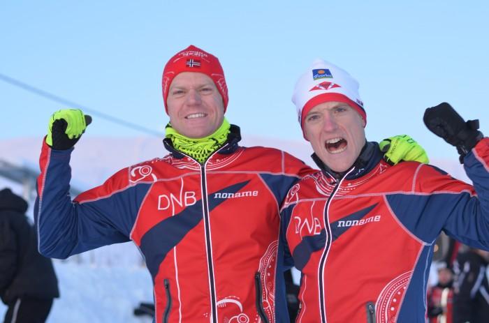 Stor norsk vcup-suksess med Lars Hol Moholdt (t.h.) på toppen av lista og Øyvind Watterdal som nummer tre.