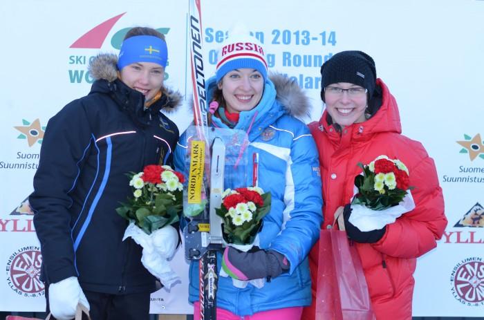 F.v. Tove Alexandersson (2.), Tatyana Rvacheva (1.) og Hani Hancikova (3.)